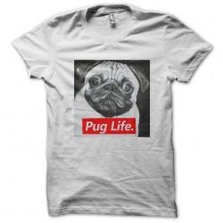 shirt Pug life white sublimation