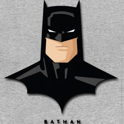 Batman face t-shirt Gray...