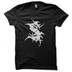 t-shirt tribal bone black...