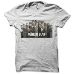 tee shirt the walking dead personnages  sublimation