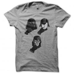 tee shirt visage starwars gris sublimation