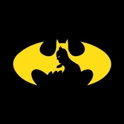 batman shade black sublimation logo t-shirt