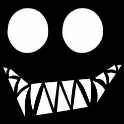 shirt demoniaque smile black sublimation