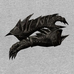 Gantelet daedra t-shirt Sublimation gray skyrim armor