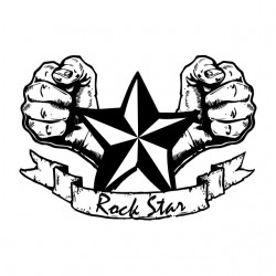 Rock star white sublimation...