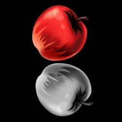 tee shirt death note apples  sublimation