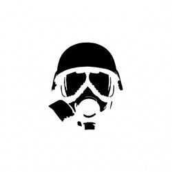 Nuclear War Gas Mask white sublimation t-shirt