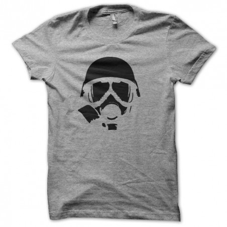 Tee shirt Nuclear War Gas Mask gris sublimation