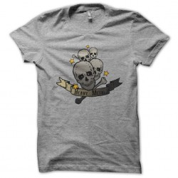 heavy metal shirt gray...