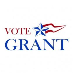Vote Grant white sublimation t-shirt