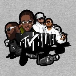 tee shirt MTV Black gray...