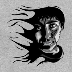 tee shirt Dark Side gris...