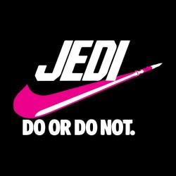 tee shirt jedi parodie nike do or do not  sublimation