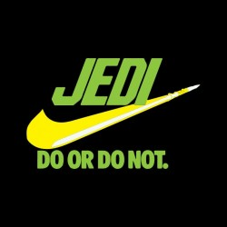 tee shirt jedi parodie nike do or do not  sur  sublimation