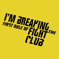 shirt fight club yellow sublimation