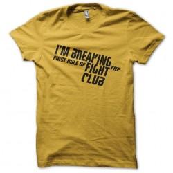 shirt fight club yellow...