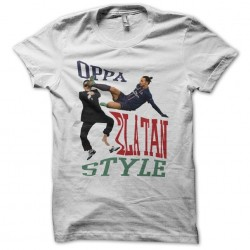 OPPA Zlatan Style parody gangnam white sublimation t-shirt