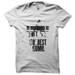 tee shirt No rest jump parodie forrest gump  sublimation