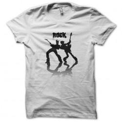 white sublimation rock t-shirt