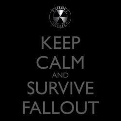 Keep calm and survive t-shirt black sublimation