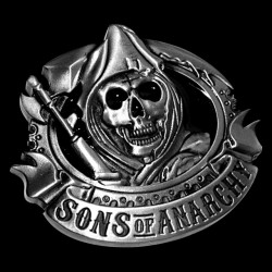 t-shirt Sons of Anarchy logo black sublimation