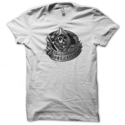 T-shirt Sons of Anarchy logo white sublimation