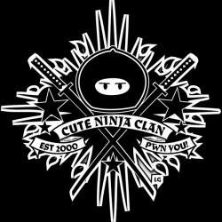 tee shirt cute ninja clan...