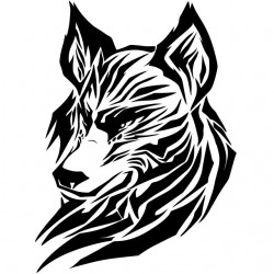 tee shirt wolf  sublimation