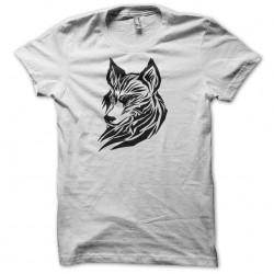 tee shirt wolf white sublimation