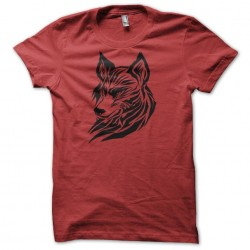 tee shirt wolf Red...