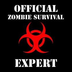 tee shirt official zombie survival expert black sublimation