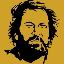 Tshirt Bud Spencer Carlo Pedersoli black yellow. sublimation
