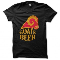 tee shirt Goats Beer logo...
