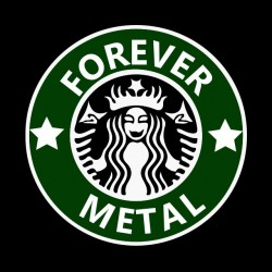 Forever Metal shirt starbucks logo black sublimation