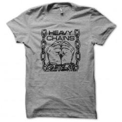 heavy chains t-shirt gray...