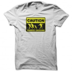 tee shirt caution zombies...