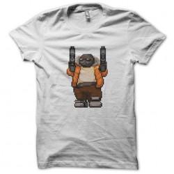 tee shirt 8 bit white swag...