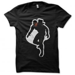 t-shirt solid snake in black sublimation sticker