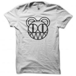 t-shirt radiohead logo white teddy bear sublimation