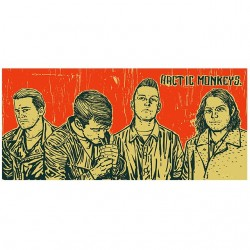 shirt arctic monkeys white...