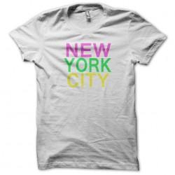 new york city white sublimation tee shirt