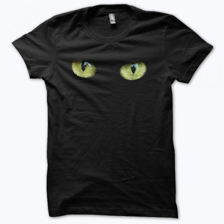 T-shirt eyes of Cats black sublimation