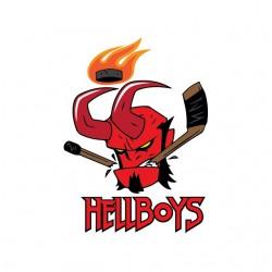 Hellboy logo white sublimation t-shirt
