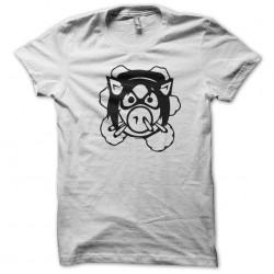 tee shirt pig wheels angry...
