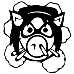 tee shirt pig wheels angry  sublimation