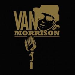 Van Morrison fan art black sublimation t-shirt