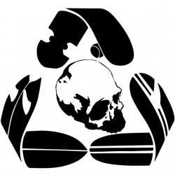 shirt skater logo white...