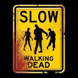 shirt slow walking dead black sublimation