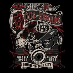 tee shirt Rock Steady Rods & Broads vieilles bagnoles  sublimation