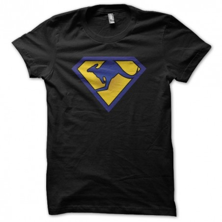 Skippy parody Superman black sublimation t-shirt